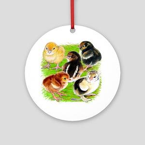 Five Chicks Ornament (Round)