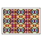 Retro Fractal Art Pattern Banner