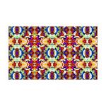 Retro Fractal Art Pattern 35x21 Wall Decal