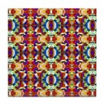 Retro Fractal Art Pattern Tile Coaster