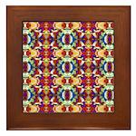 Retro Fractal Art Pattern Framed Tile