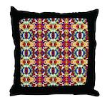 Retro Fractal Art Pattern Throw Pillow