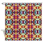 Retro Fractal Art Pattern Shower Curtain