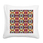 Retro Fractal Art Pattern Square Canvas Pillow