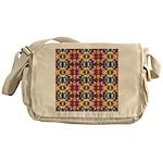 Retro Fractal Art Pattern Messenger Bag