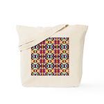 Retro Fractal Art Pattern Tote Bag