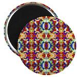 Retro Fractal Art Pattern Magnet