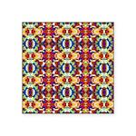 Retro Fractal Art Pattern Square Sticker 3