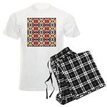 Retro Fractal Art Pattern Men's Light Pajamas