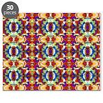 Retro Fractal Art Pattern Puzzle