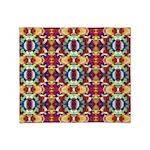Retro Fractal Art Pattern Throw Blanket