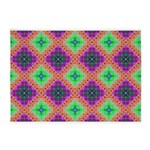 Green Pink and Purple Checkered Pattern 5'x7'Area