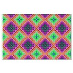 Green Pink and Purple Checkered Pattern Large Post