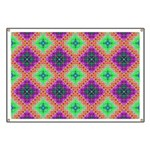Green Pink and Purple Checkered Pattern Banner