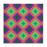 Green Pink and Purple Checkered Pattern Tile Coast
