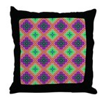 Green Pink and Purple Checkered Pattern Throw Pill