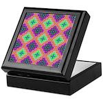 Green Pink and Purple Checkered Pattern Keepsake B