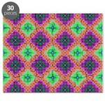 Green Pink and Purple Checkered Pattern Puzzle