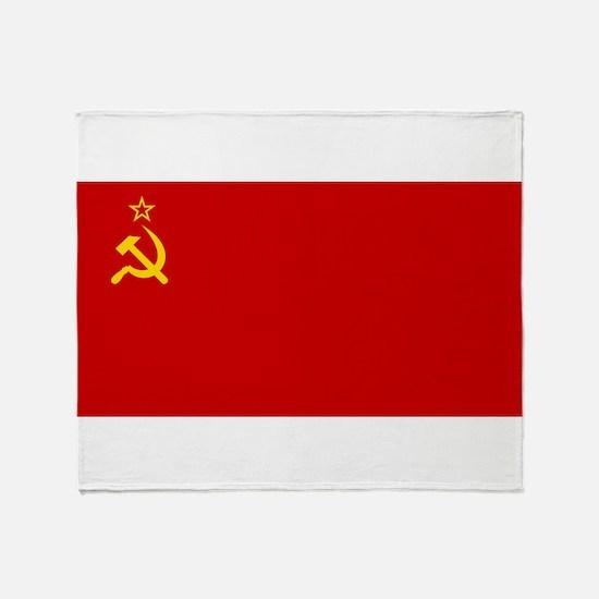 Russia - Soviet Union Flag -1923-1991 Throw Blanke