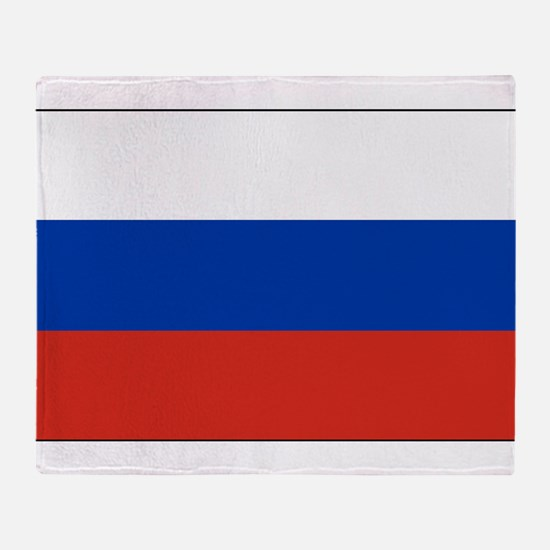 Russia - National Flag - Current Throw Blanket
