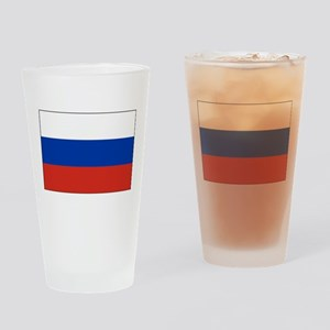 Russia - National Flag - Current Drinking Glass