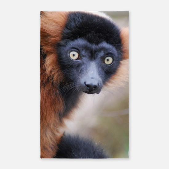 Red Ruffed Lemur 3'x5' Area Rug