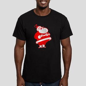 Big Red Santa Men's Fitted T-Shirt (dark)