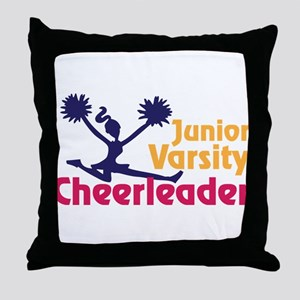 Junior Varsity Cheerleader Throw Pillow