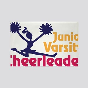 Junior Varsity Cheerleader Rectangle Magnet