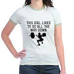 Down low Jr. Ringer T-Shirt