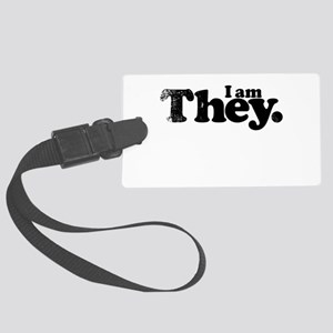 I am They. Large Luggage Tag