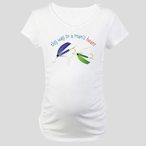 A Mans Heart Maternity T-Shirt