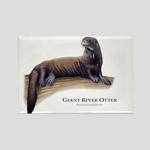 Giant River Otter Rectangle Magnet