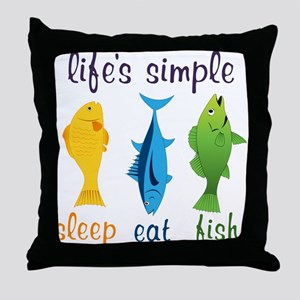 Lifes Simple Throw Pillow