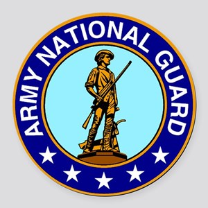 Army National Guard Logo Round Car Magnet