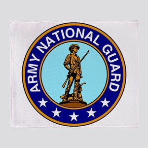 Army National Guard Logo Throw Blanket