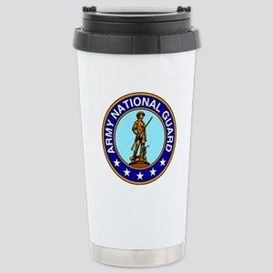 Army National Guard Logo Stainless Steel Travel Mu
