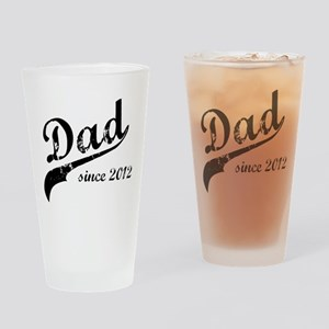 Dad Since 2012 Drinking Glass