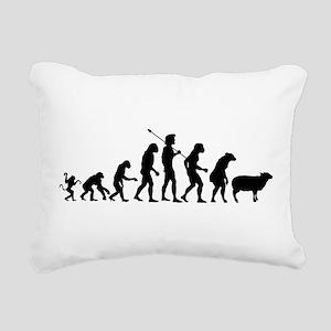 Modern Evolution Rectangular Canvas Pillow