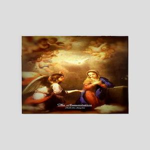 The Annunciation 1665 5'x7'Area Rug