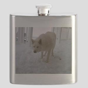 Hybrid White Wolf Flask