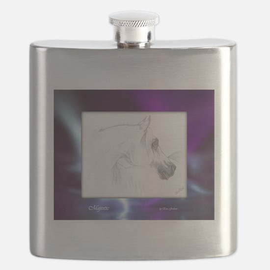 Majestic Arabian Violet Blue Flask
