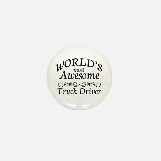 Truck Driver Mini Button