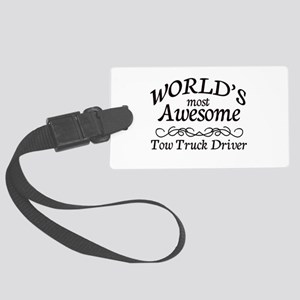 Tow Truck Driver Large Luggage Tag