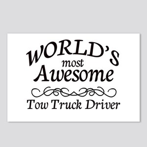 Tow Truck Driver Postcards (Package of 8)