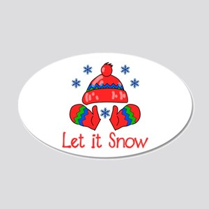 Let It Snow 20x12 Oval Wall Decal