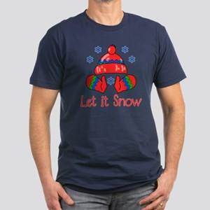 Let It Snow Men's Fitted T-Shirt (dark)