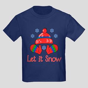 Let It Snow Kids Dark T-Shirt