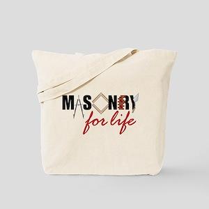 Masonry For Life Tote Bag