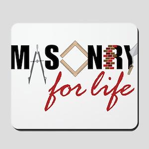 Masonry For Life Mousepad